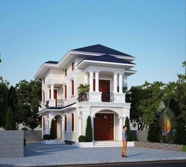 biet thu 2 tang mai thai e1594137228122 - Bộ sư tập 60 Mẫu thiết kế biệt thự phố 2 tầng đẹp sang trọng