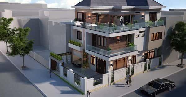 Thiết kế biệt thự 3 tầng hiện đại đẹp anh Hải, Hoài Đức Hà Nội