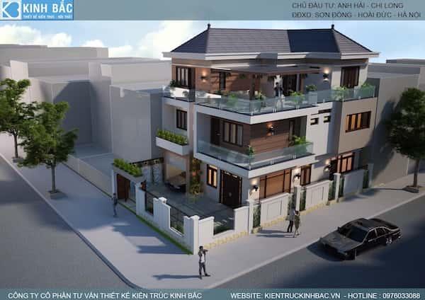 biet thu 3 tang hien dai 7 - 100 mẫu biệt thự 3 tầng hiện đại đẹp nhất 2018