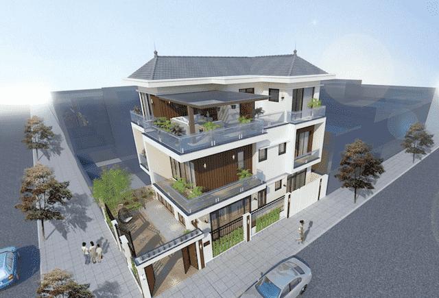 biet thu 3 tang hien dai mr hai hoai duc 2 - 100 mẫu biệt thự 3 tầng hiện đại đẹp nhất 2018