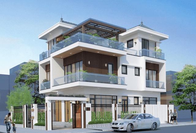 biet thu 3 tang hien dai mr hai hoai duc 3 - 100 mẫu biệt thự 3 tầng hiện đại đẹp nhất 2018