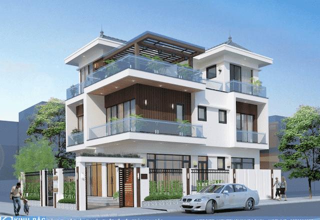 biet thu 3 tang hien dai mr hai hoai duc - 100 mẫu biệt thự 3 tầng hiện đại đẹp nhất 2018