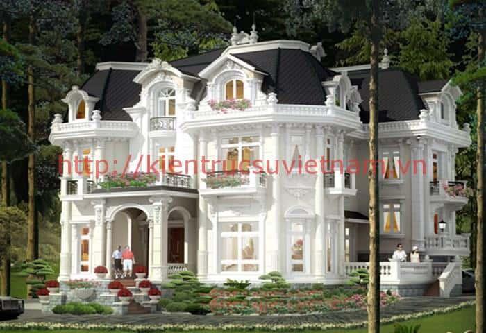 biet thu co dien 2 - Các dự án thiết kế Biệt thự lâu đài đẹp đã thực hiện