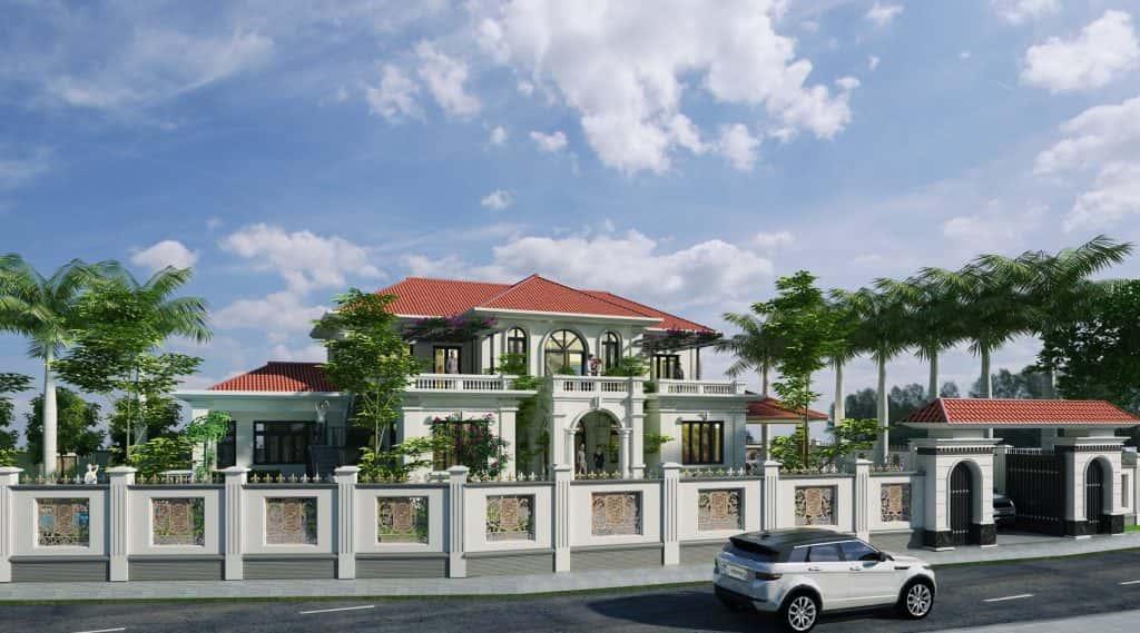 biet thu dep mai doc dep 1024x569 - Bộ sưu tập mẫu thiết kế biệt thự phố đẹp và sang trọng