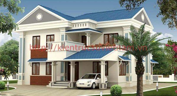biet thu mai thai e1594137202222 - Bộ sư tập 60 Mẫu thiết kế biệt thự phố 2 tầng đẹp sang trọng