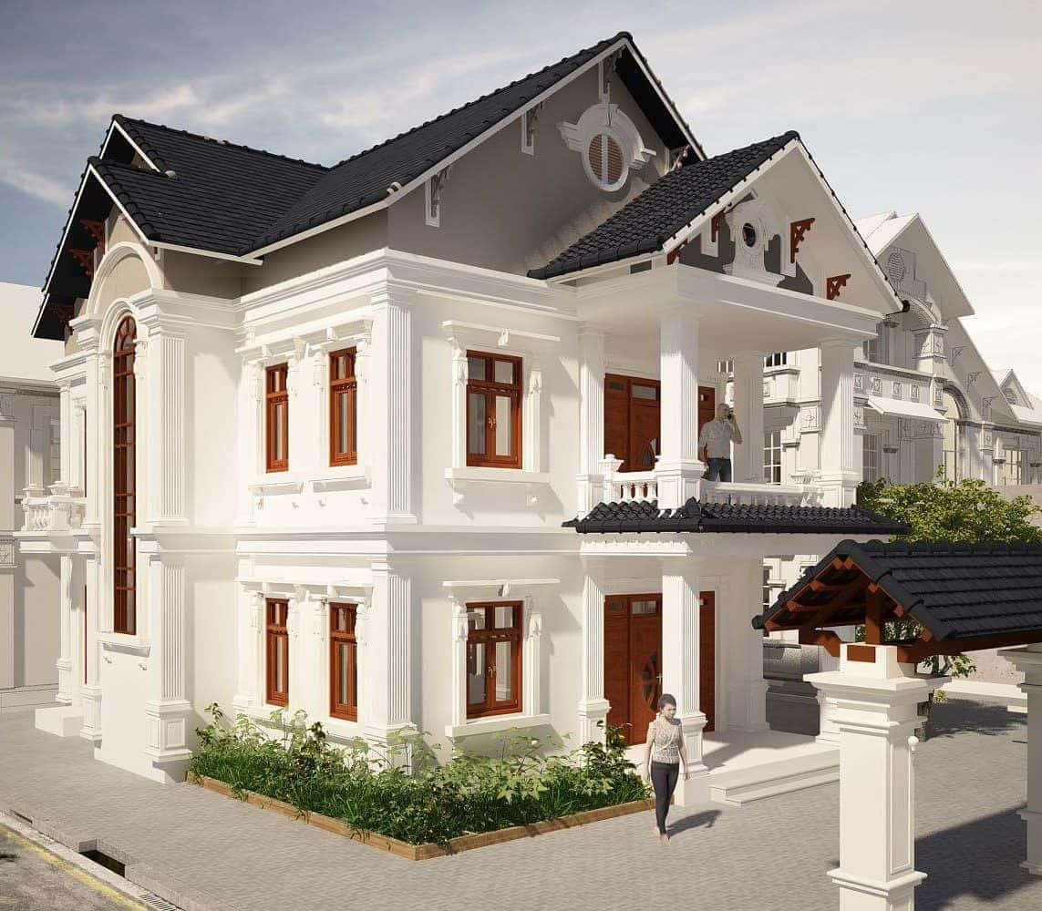 biệt thự 2 tầng kiểu Châu Âu