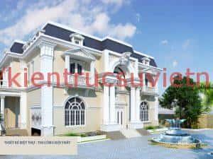 biet thu pho co dien dep 300x225 - 150 Mẫu thiết kế biệt thự phố cổ điển đẹp ấn tượng