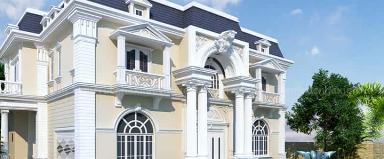150 Mẫu thiết kế biệt thự phố cổ điển đẹp ấn tượng