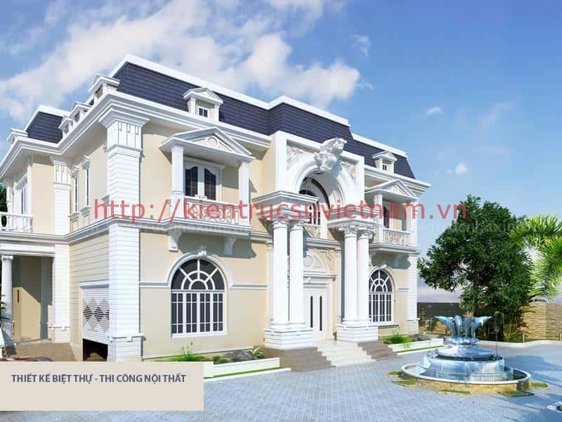 biet thu pho co dien dep - 100 mẫu biệt thự 2 tầng 120m2 đẹp, sang trọng và tiện nghi