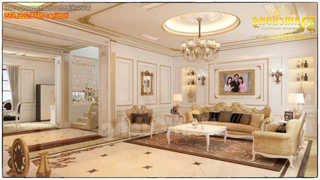 nội thất phòng khách tân cổ điển