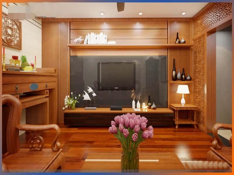 """huong dan thi cong go op tuong 20 - 100 mẫu nội thất phòng khách bằng gỗ gây """"SỐC"""" với lối thiết kế độc đáo"""