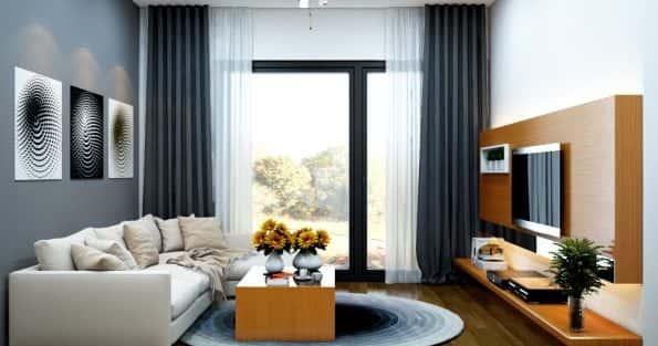 Mẫu thiết kế nội thất phòng khách đẹp sang trọng hiện đại nhất