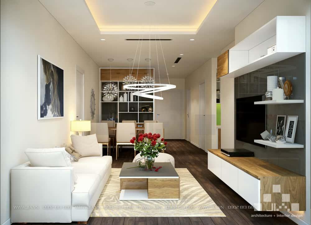mau thiet ke noi that chung cu 8 1 - Thiết kế nội thất phòng khách đẹp