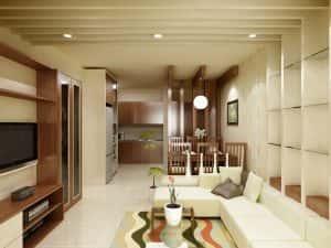 mau thiet ke noi that phong khach nha ong 6 300x225 - Thay đổi không gian hẹp với 15 mẫu nội thất phòng khách nhà ống