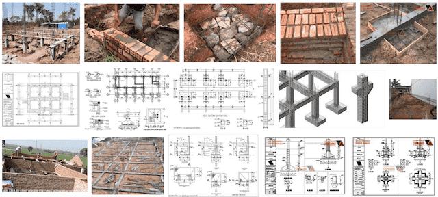 Tổng hợp các bản vẽ thiết kế móng nhà cấp 4