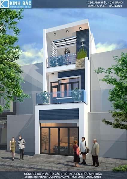 nha ong 3 tang anh hieu chi sang - Dự toán chi phí xây nhà 3 tầng 70m2 đẹp với phong cách ấn tượng