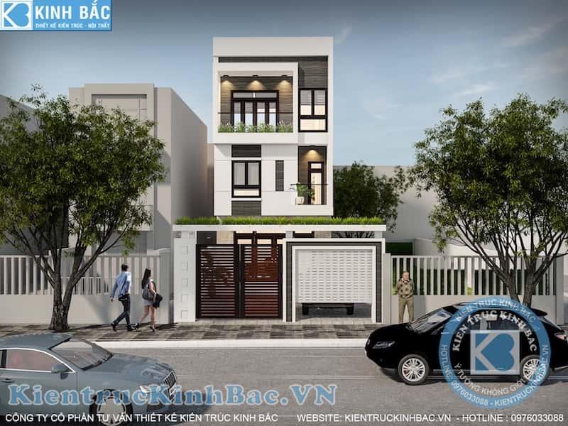 nha pho 3 tang dep v3 - Thiết kế nhà 5m x 16m anh Hưng Từ Sơn, Bắc Ninh