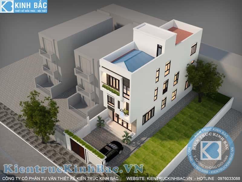 nha pho 3 tang dep view 1 - Thiết kế nhà 5m x 16m anh Hưng Từ Sơn, Bắc Ninh
