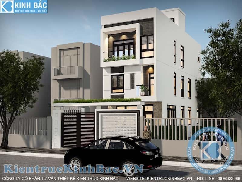 nha pho 3 tang dep view 2 - Thiết kế nhà 5m x 16m anh Hưng Từ Sơn, Bắc Ninh