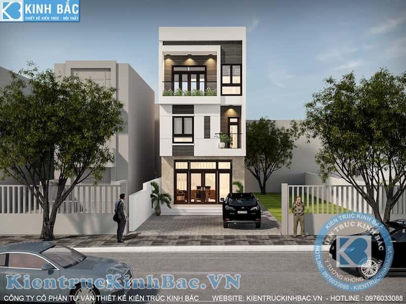 nha pho 3 tang dep - Thiết kế nhà 5m x 16m anh Hưng Từ Sơn, Bắc Ninh