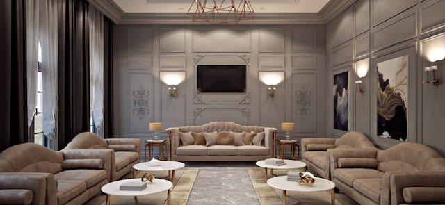 noi that biet thu tan co dien 2 - Thiết kế nội thất phòng khách biệt thự đẹp sang trọng cao cấp