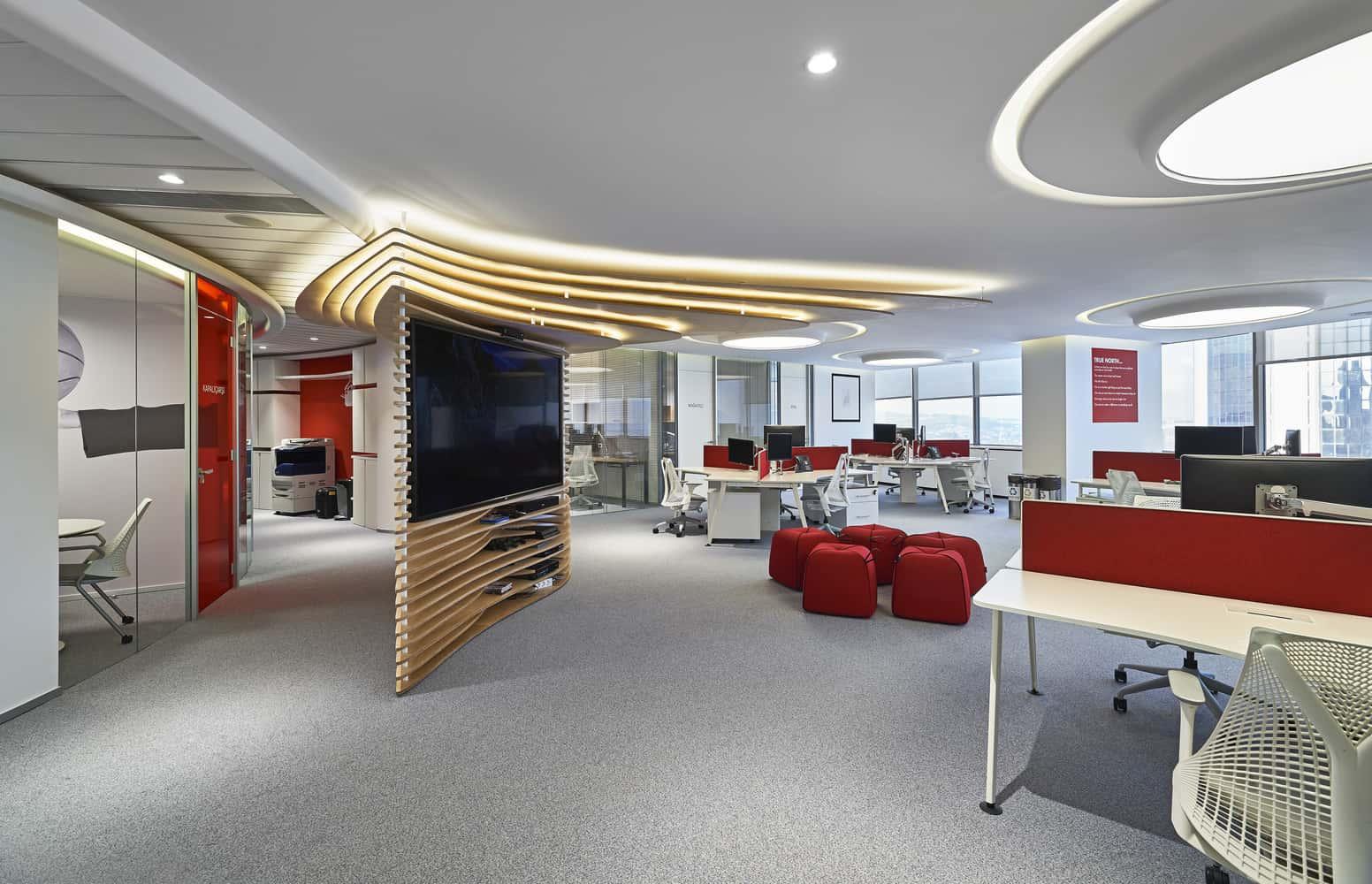 Mẫu thiết kế nội thất phòng làm việc của nhân viên phong cách làm việc nhóm