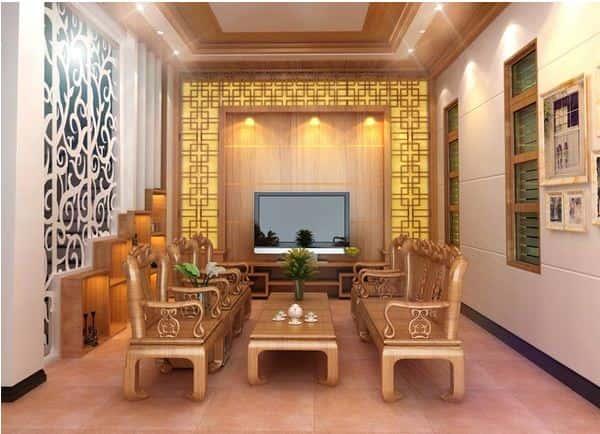 """noi that phong khach go tu nhien 1  - 100 mẫu nội thất phòng khách bằng gỗ gây """"SỐC"""" với lối thiết kế độc đáo"""