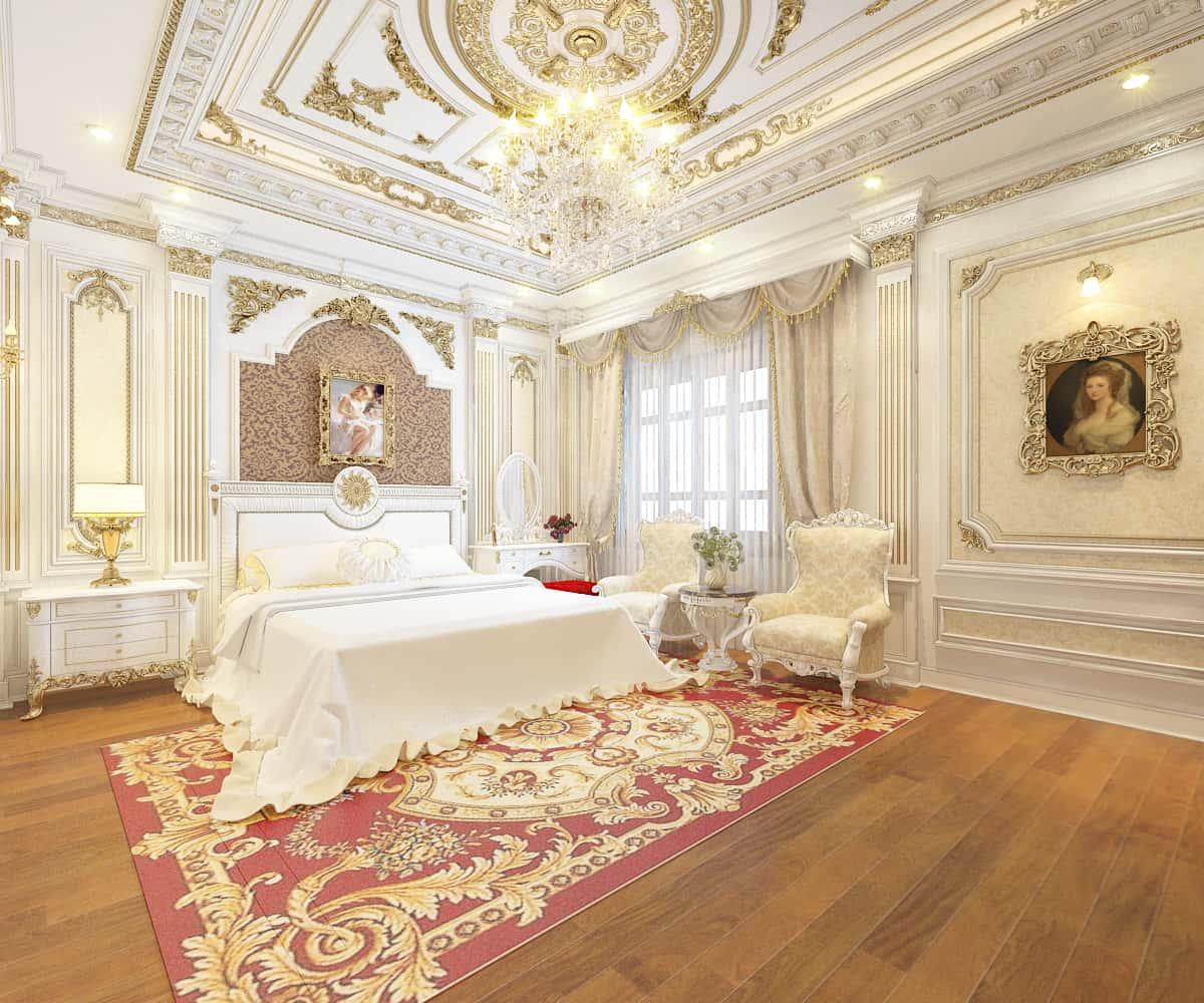 """noi that phong ngu tan co dien 3 - Bật mí những """"bí mật"""" của phong cách thiết kế nội thất tân cổ điển đẹp"""