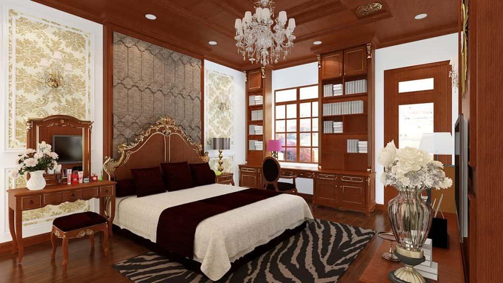 noi that phong ngu tan co dien 5 1024x577 - Thiết kế nội thất chung cư 3 phòng ngủ