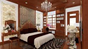 noi that phong ngu tan co dien 5 300x169 - Thiết kế nội thất chung cư 3 phòng ngủ