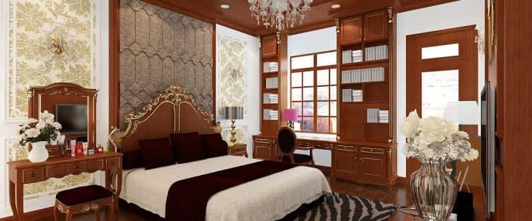 10 mẫu nội thất phòng ngủ tân cổ điển nhìn không muốn rời