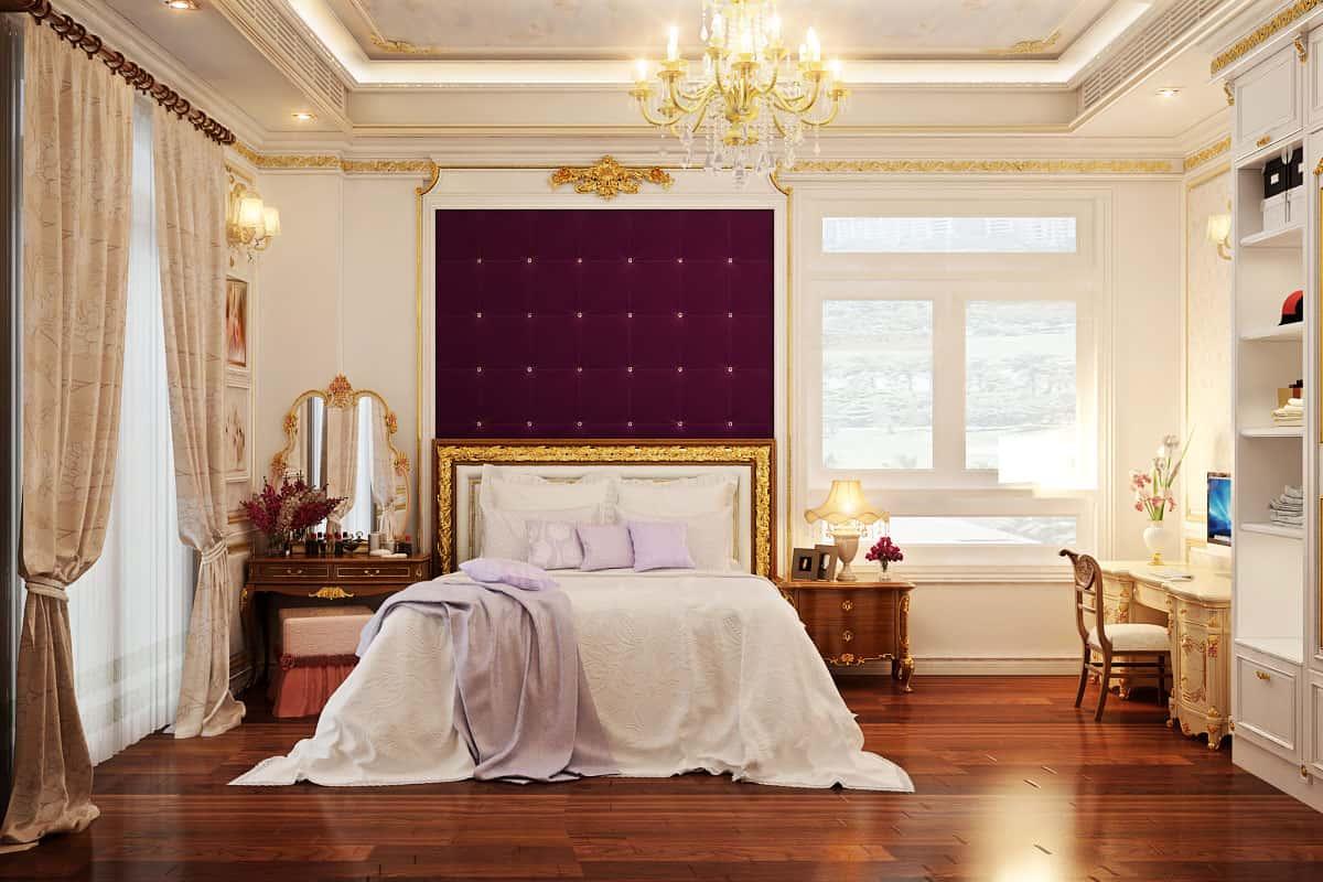 """noi that phong ngu tan co dien 6 - Bật mí những """"bí mật"""" của phong cách thiết kế nội thất tân cổ điển đẹp"""