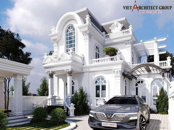 thiet ke biet thu 2 tang co dien 2 - Tổng hợp các mẫu biệt thự 2 tầng cổ điển đẹp và sang trọng