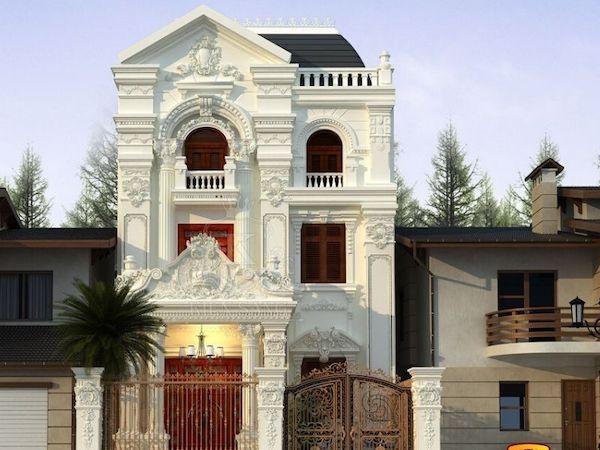 thiet ke biet thu 2 tang co dien 3 - Tổng hợp các mẫu biệt thự 2 tầng cổ điển đẹp và sang trọng