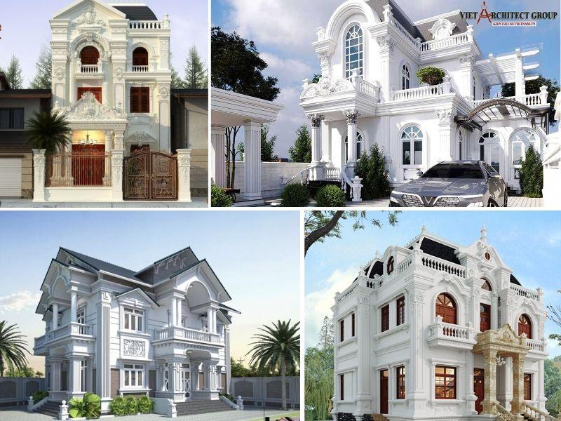 thiet ke biet thu 2 tang co dien - Tổng hợp các mẫu biệt thự 2 tầng cổ điển đẹp và sang trọng