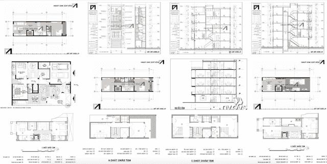 thiet ke nha ong co thang may - 20 Mẫu thiết kế nhà ống có thang máy đẹp với kiến trúc hiện đại