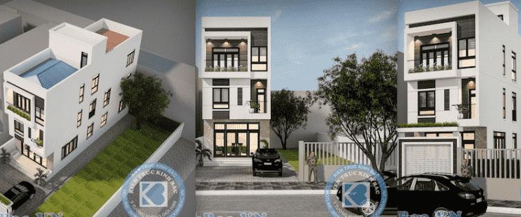 Thiết kế nhà 5m x 16m anh Hưng Từ Sơn, Bắc Ninh