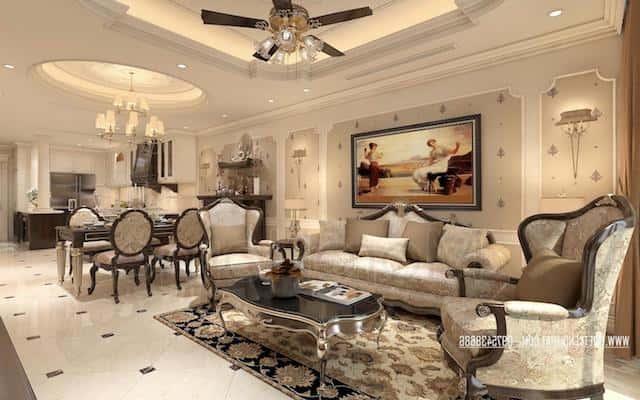 thiet ke noi that chung cu tan co dien 8 - Thiết kế nội thất phòng khách tân cổ điển