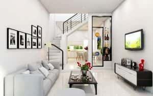 thiet ke noi that nha ong 4 300x188 - Thiết kế phòng khách nhà ống