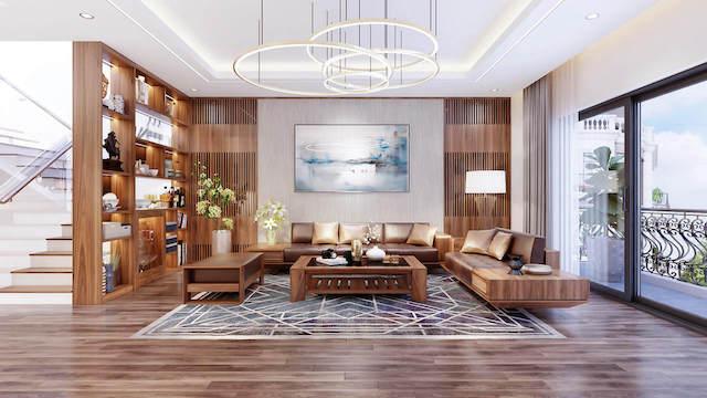 thiet ke noi that phong khach biet thu 1 - Thiết kế nội thất phòng khách biệt thự đẹp sang trọng cao cấp