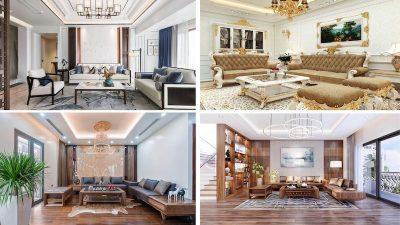 thiet ke noi that phong khach biet thu 400x225 - Thiết kế nội thất phòng khách biệt thự đẹp sang trọng cao cấp