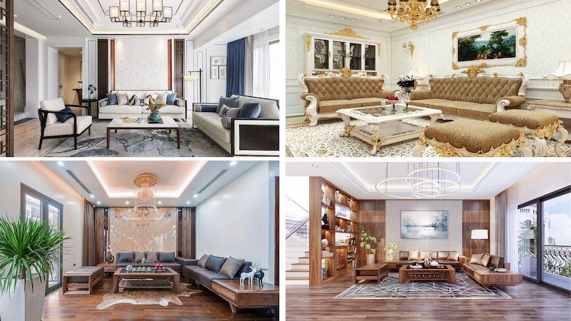 thiet ke noi that phong khach biet thu - Thiết kế nội thất phòng khách biệt thự đẹp sang trọng cao cấp