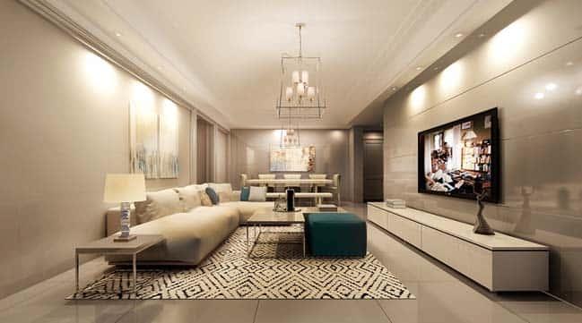 thiet ke noi that phong khach chung cu 10 - Thiết kế nội thất chung cư hiện đại