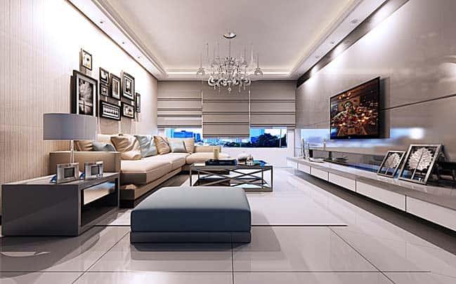 thiet ke noi that phong khach chung cu 11 - Thiết kế thi công nội thất căn hộ chung cư đẹp