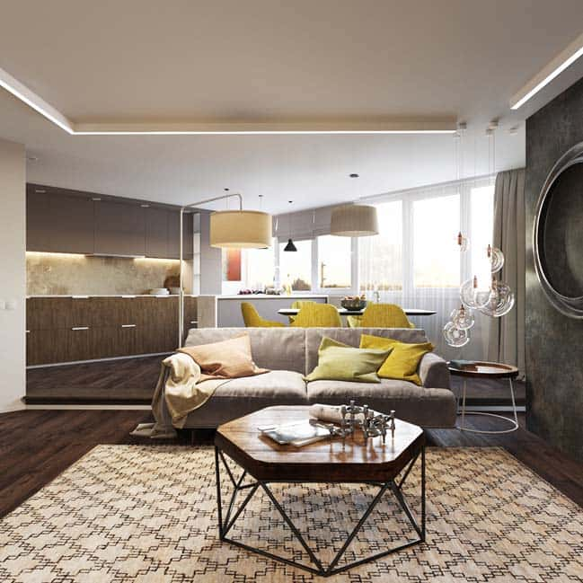 thiet ke noi that phong khach chung cu 4 - Thiết kế nội thất chung cư hiện đại