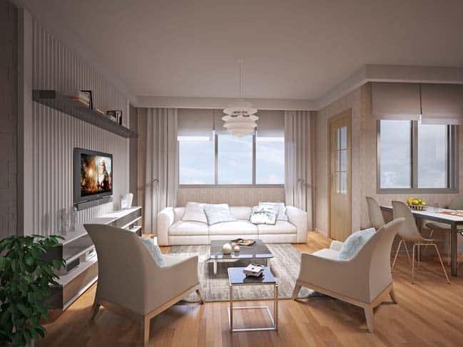 thiet ke noi that phong khach chung cu 5 - Thiết kế thi công nội thất căn hộ chung cư đẹp