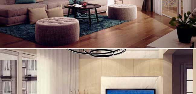 Thiết kế nội thất phòng khách chung cư ->> 10 mẫu nổi bật tạo không gian đẳng cấp