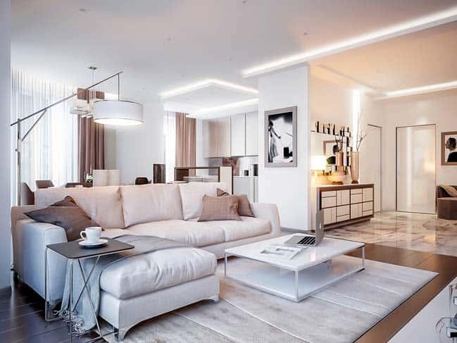 thiet ke noi that phong khach chung cu 9 - Thiết kế thi công nội thất căn hộ chung cư đẹp