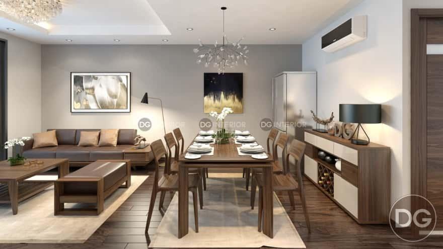 thiet ke noi that phong khach lien bep 1 1 - Thiết kế nội thất phòng khách liền bếp với 20 mẫu ấn tượng nhất