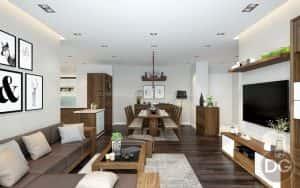 thiet ke noi that phong khach lien bep 2 300x188 - Thiết kế nội thất phòng khách liền bếp với 20 mẫu ấn tượng nhất
